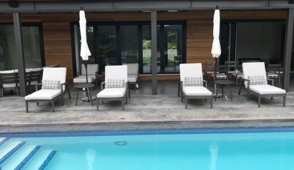 Lucia adjustable lounger   Patio Bay
