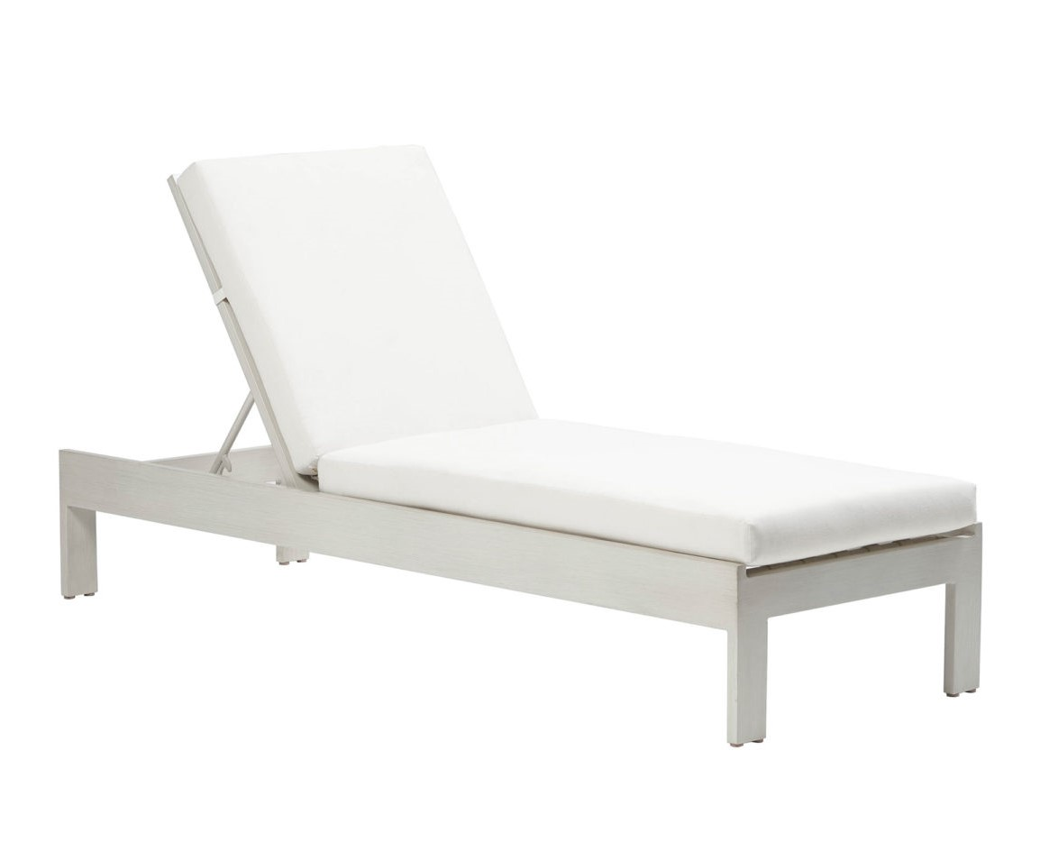 The new Park Lane lounger in white frame with cream cushion.