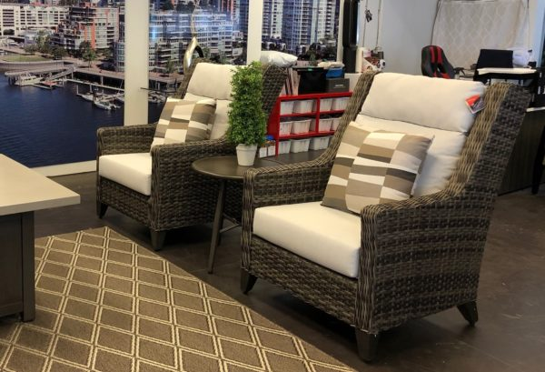 highback wing chair | Patio bay