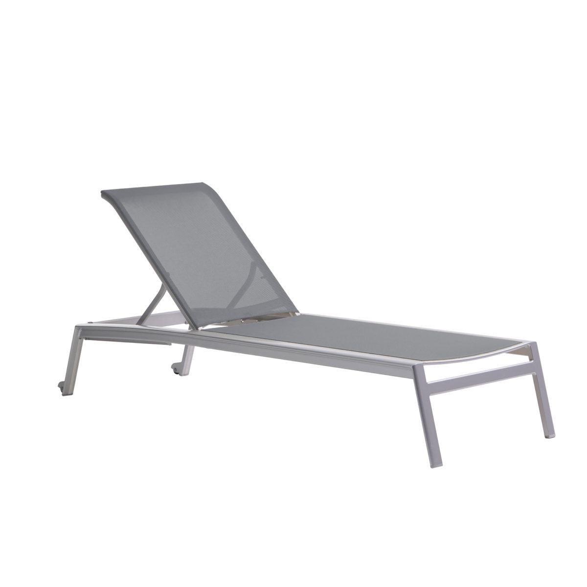 The Lyon adjustable lounge chair in grey.