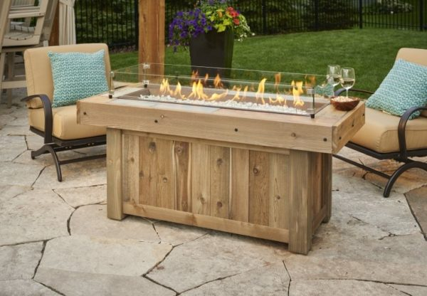 Vintage Linear Fire Table | Patio bay