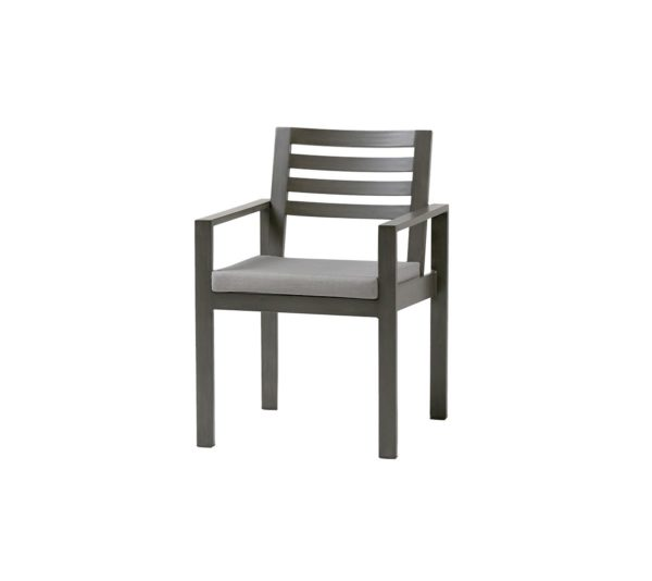 Element dining arm chair in ash grey.