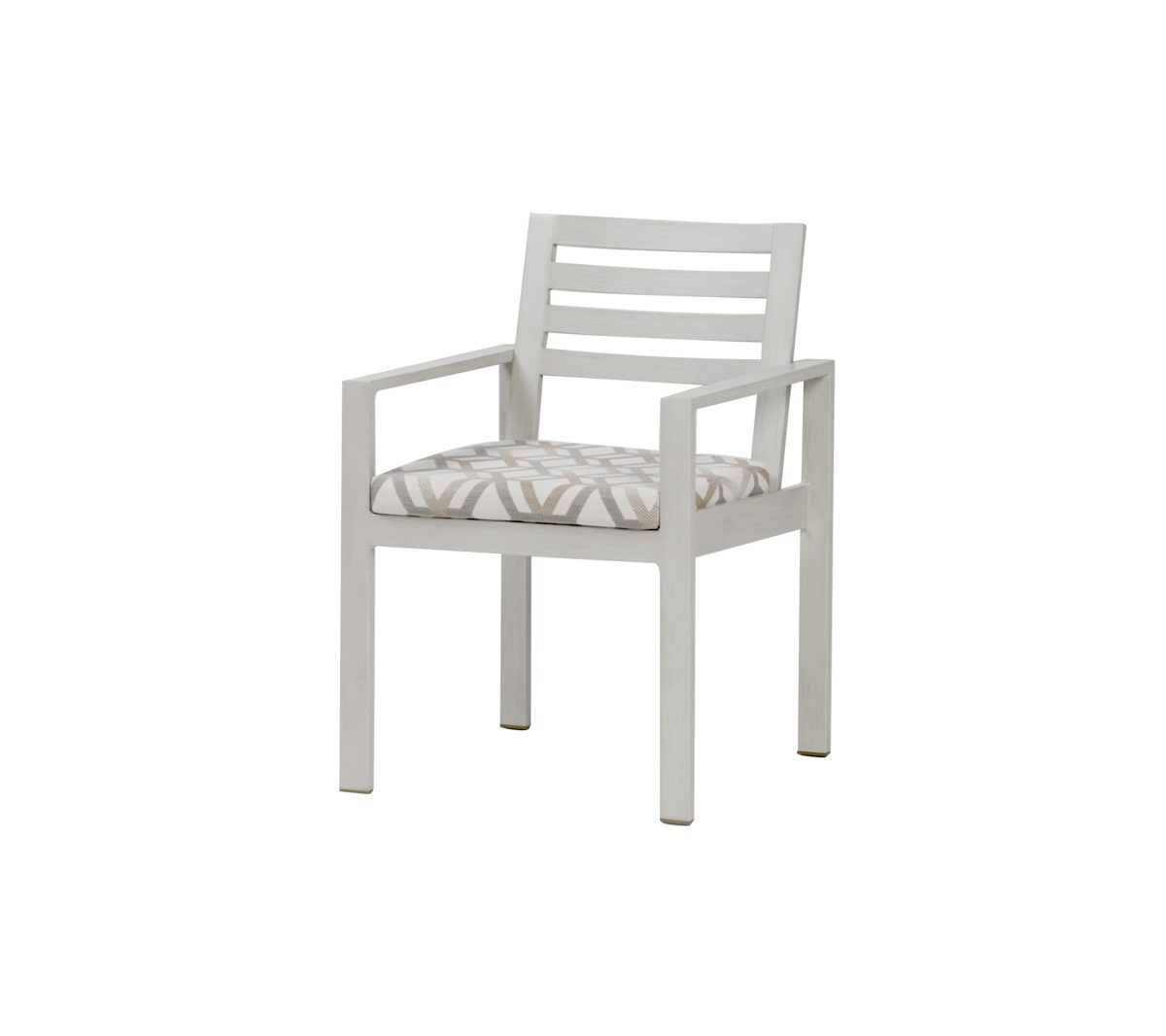Element dining arm chair in White.