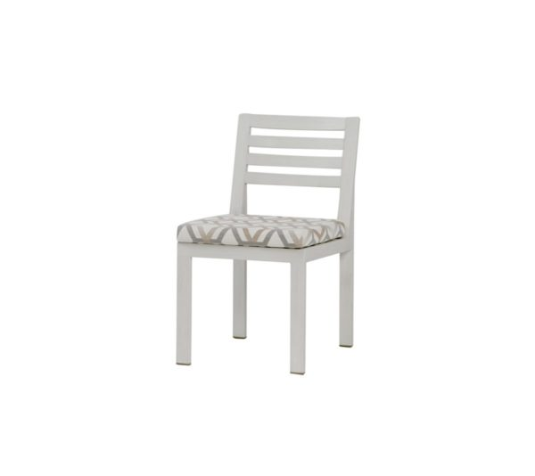 element dining side chair in white frame.