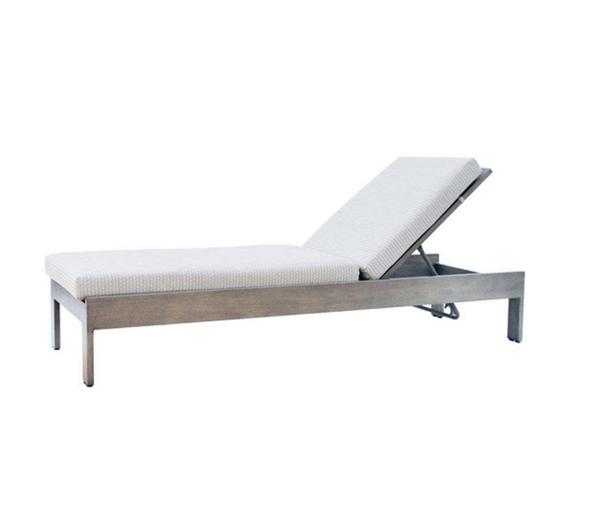 Park Lane adjustable lounger in taupe metal frame with cream cushion
