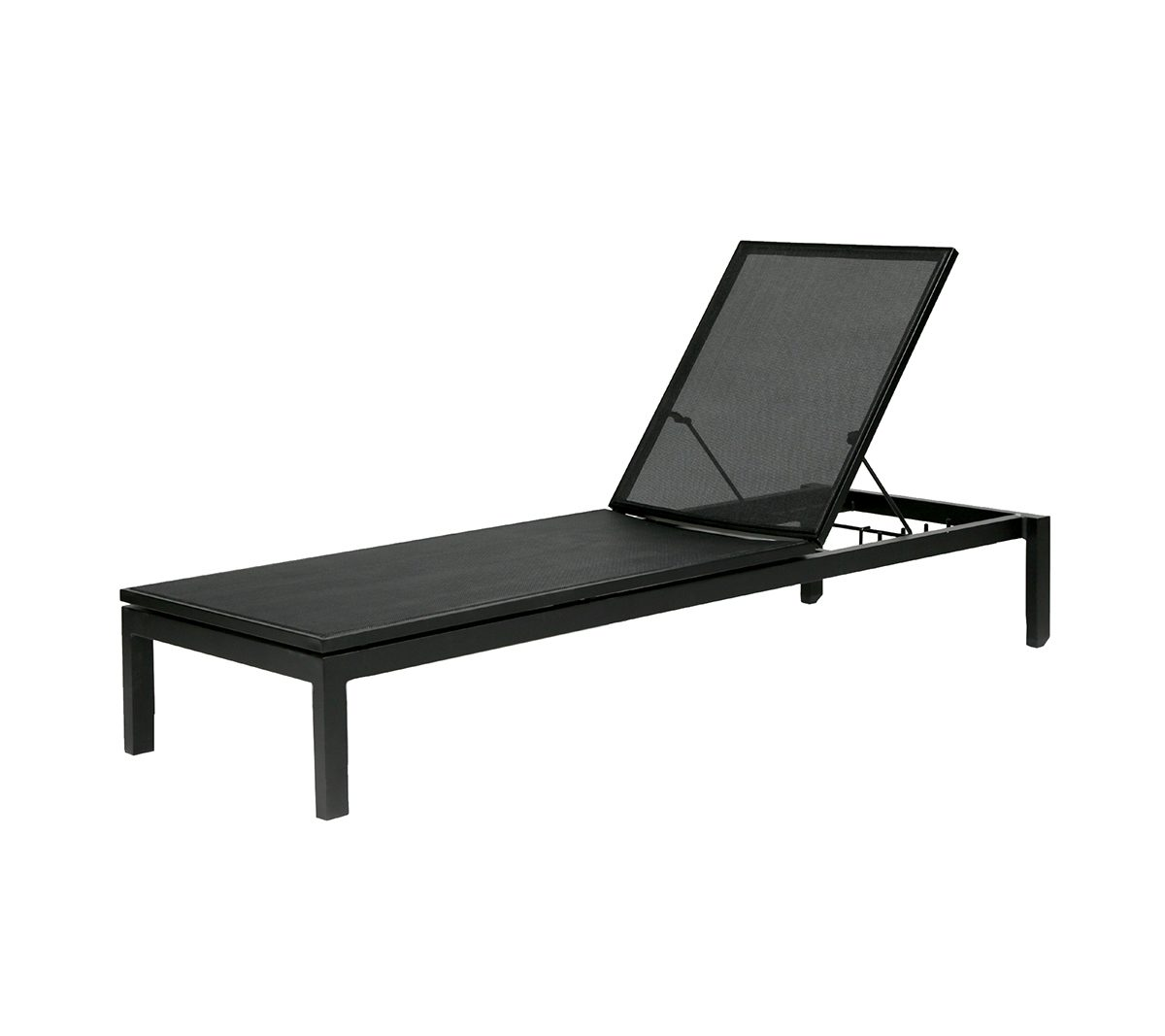 Tosca adjustable lounger with black mesh and frame