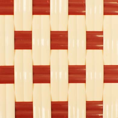 white and red checker pattern of Victoria stacking side chair.
