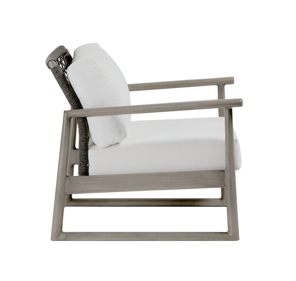 Side view of Park West club chair.