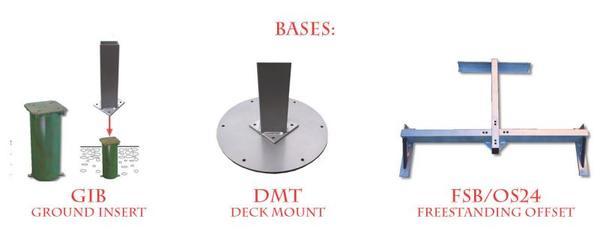 Fim Flexy shade system base options.
