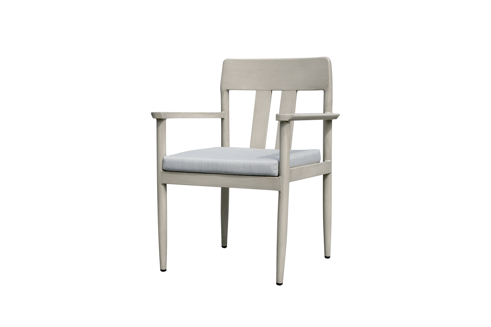 Polanco dining arm chair with idol frost cushion.
