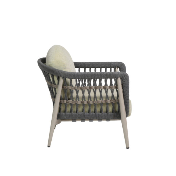 Side view of the Coconut Grove club chair.