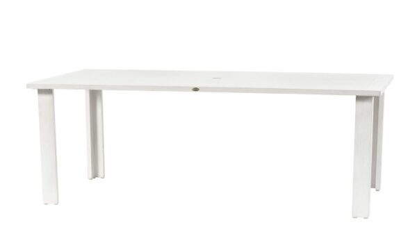 Limo dining table in white wash.