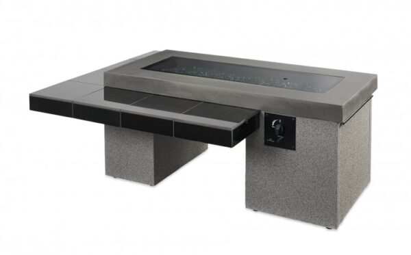 The Uptown gas fire table showing the burner lid.