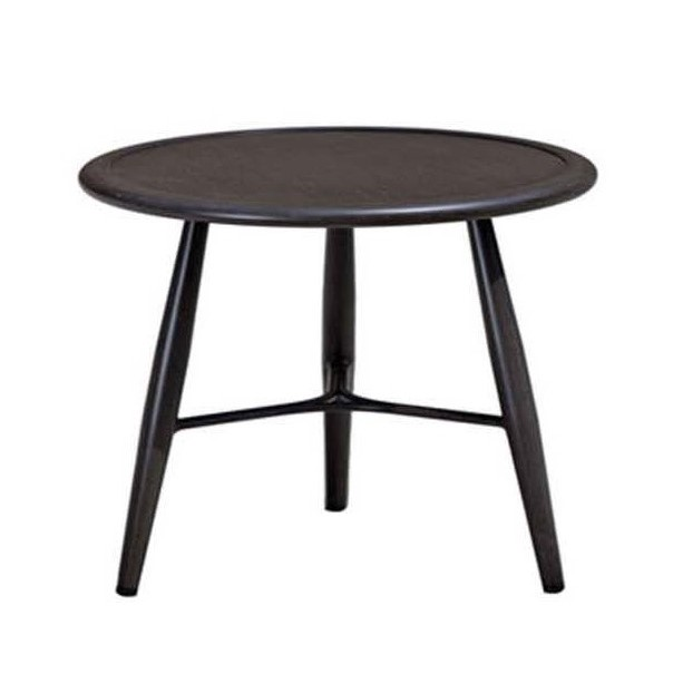 The Bolano end table in ash grey metal.