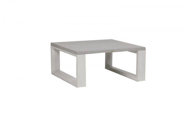 The Element square coffee table with white frame.