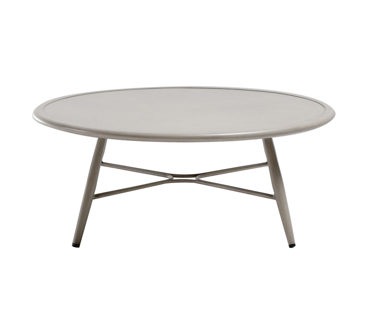The Polanco coffee table in pearl color finish.