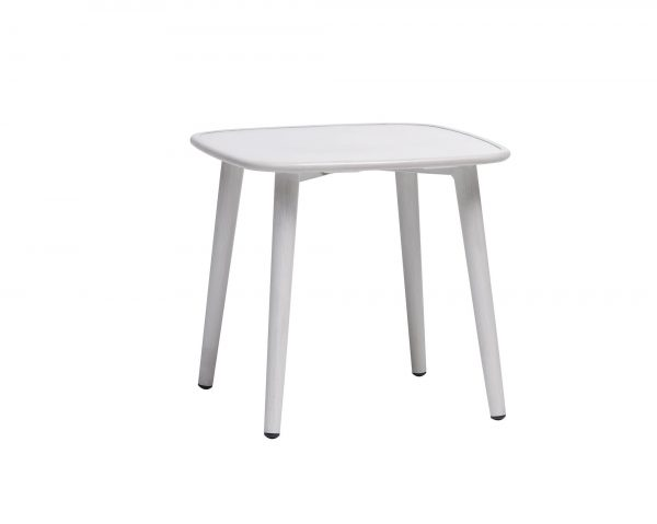 The Poinciana end table in white.