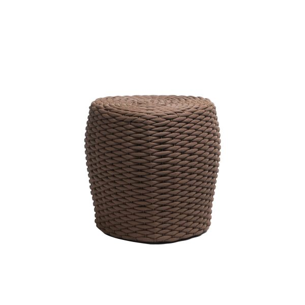 The Roca tall stool in brown.